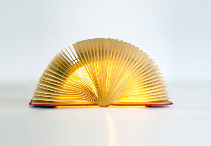 Luce Book recycled Lamp