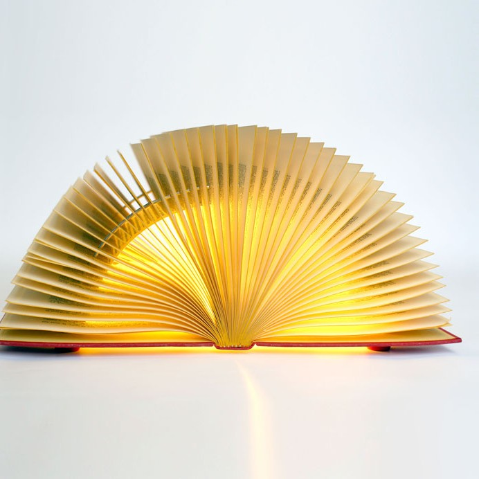 Michael Bom Recycle Book Lamps