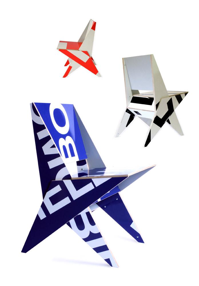 Typo chair upcycled design Rotterdam