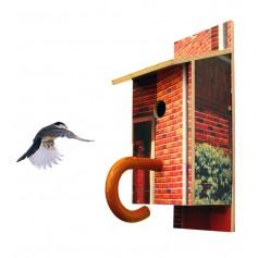 Billbirdhouse upcycled typographic billboards nest box