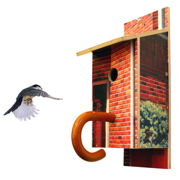 Billbirdhouse upcycled typographic billboards nest box