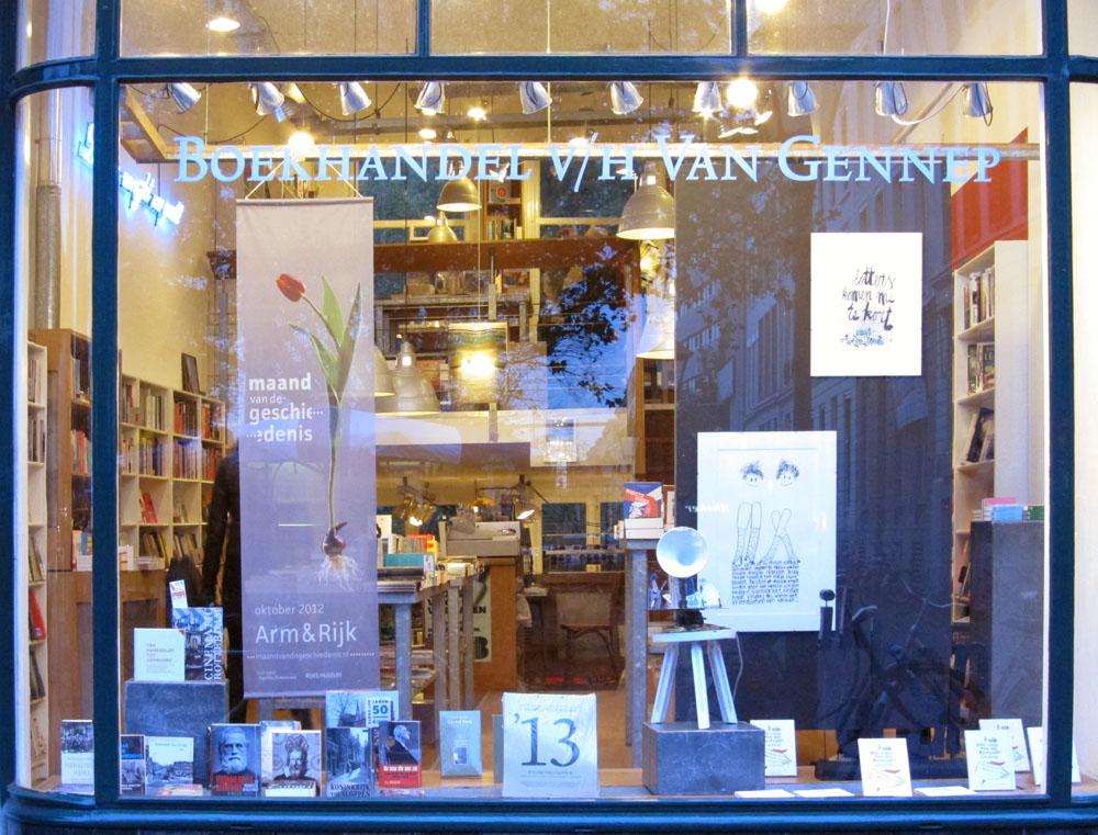 book lamp rotterdam boekhandel van gennep