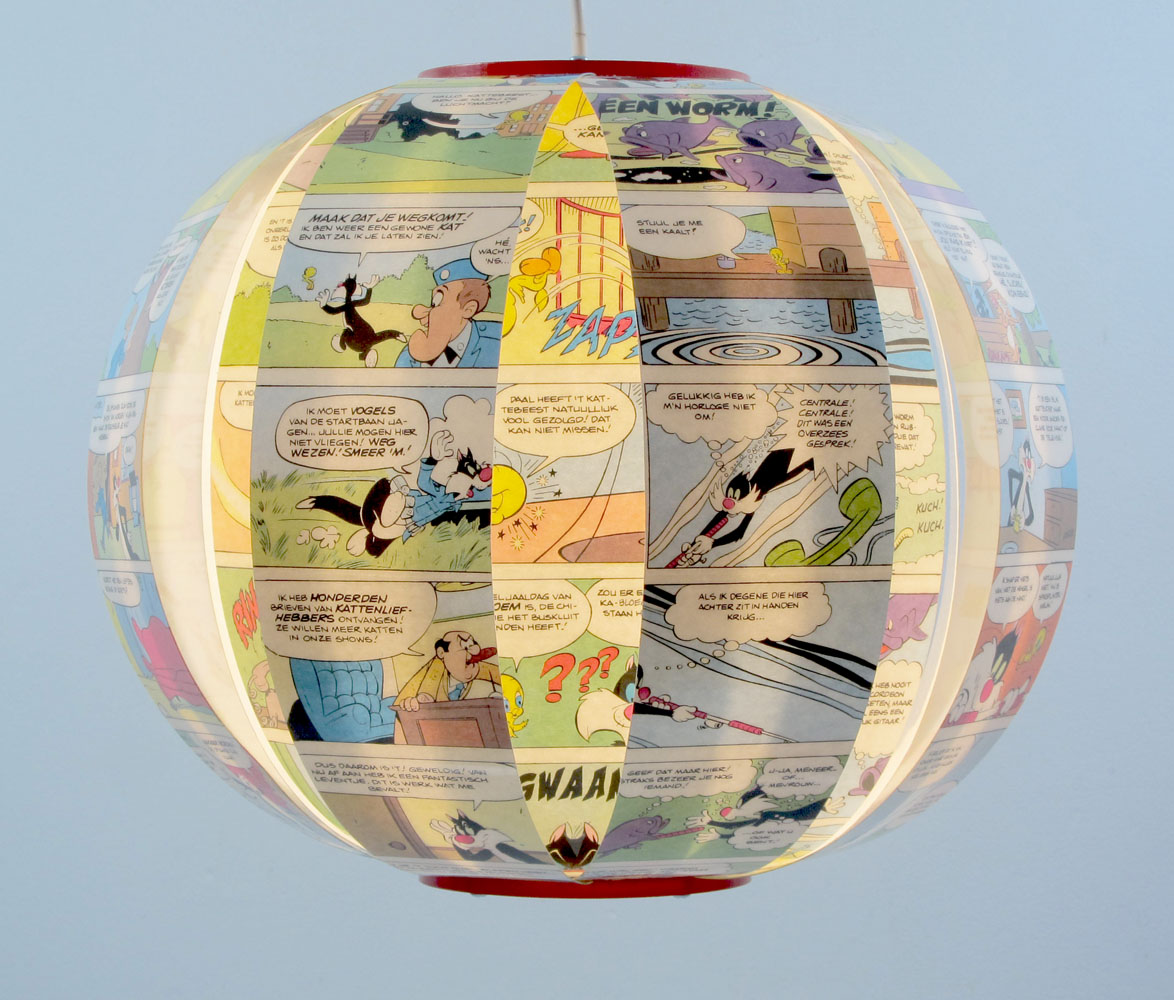 WHAM! comic book lamp - Sylvester & Tweety