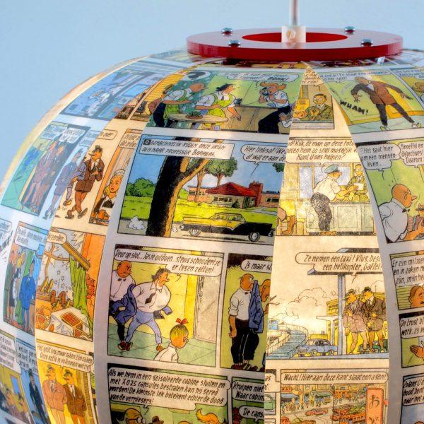 Suske & Wiske - comic book lamp - Bomdesign