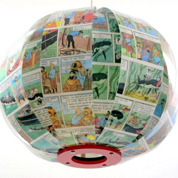 Kuifje Tintin comic book lamp bomdesign Michael Bom