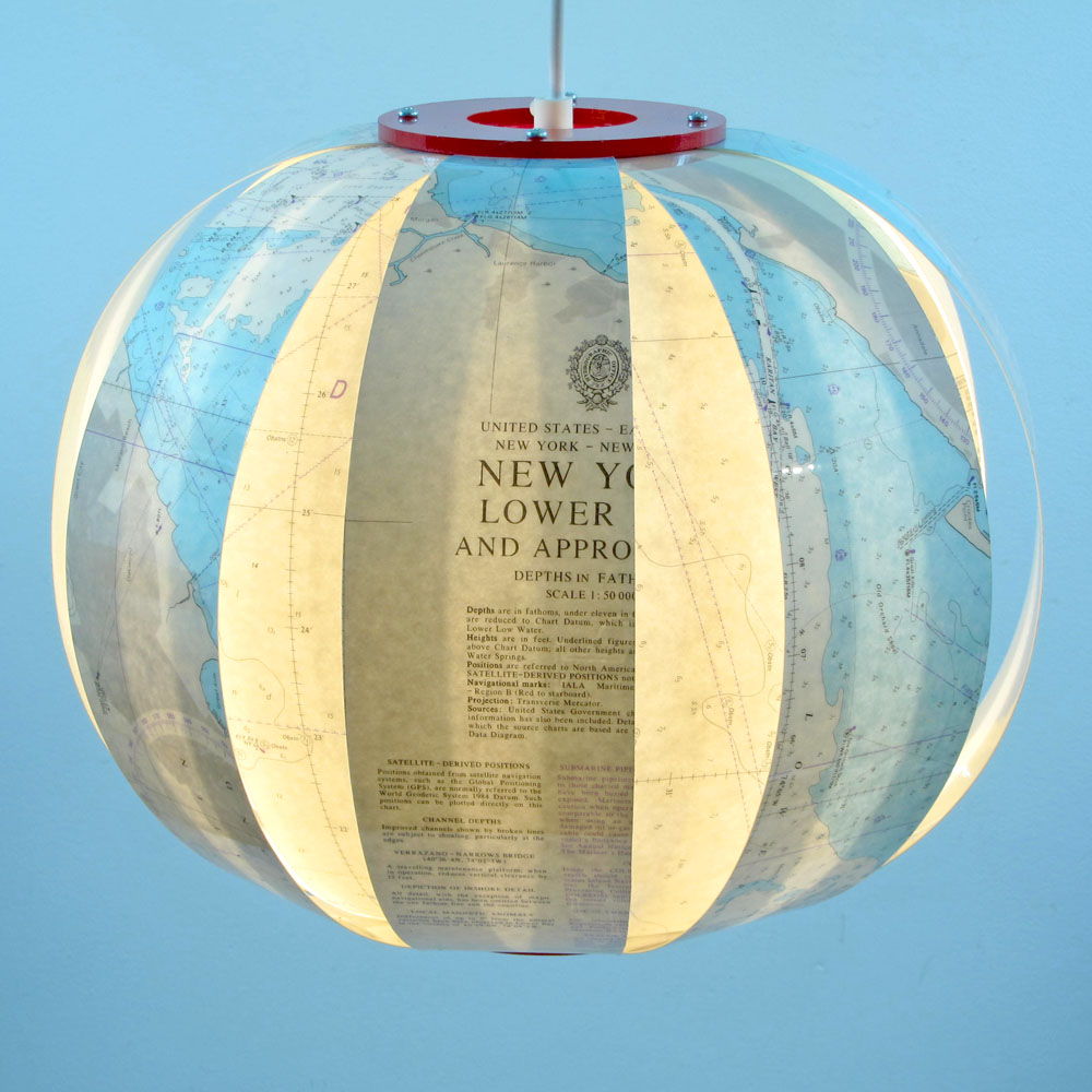 Sea Lamps: Sea-lamp New York Is A Hanging Lamp Made From A Real