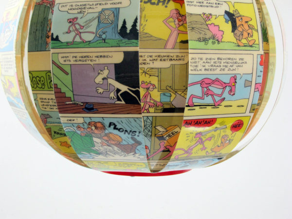 Pink Panther - comic book lamp