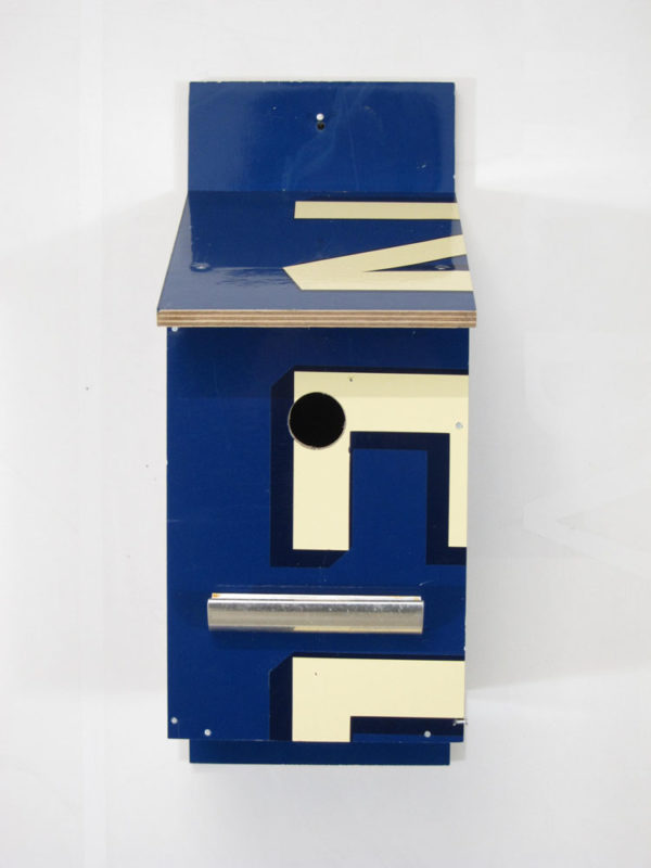 Billbirdhouse Creme & Blue recycle design