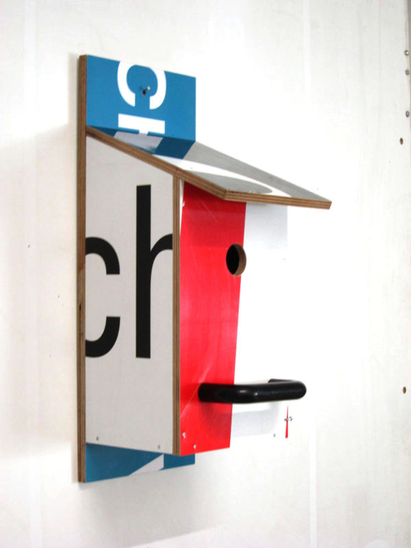 Billbirdhouse Blue, Black & Red recycle design