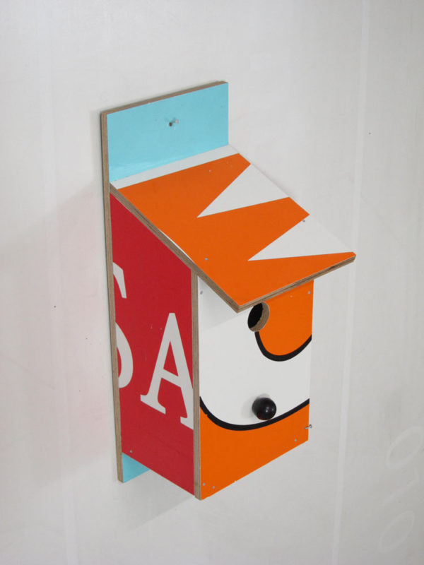 Billbirdhouse Orange, Red & Blue recycle design