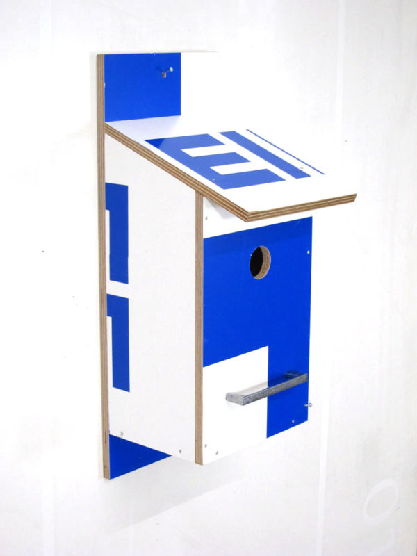 Billbirdhouse White & Blue recycle design