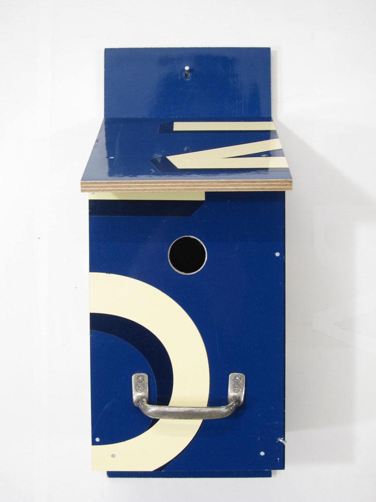 Billbirdhouse Blue & Creme recycle design