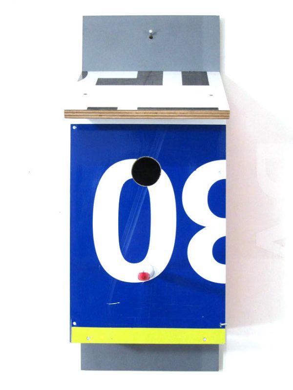 Billbirdhouse Black, White & Blue recycle design