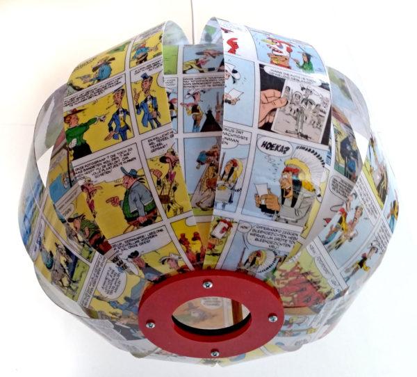 Lucky Luke - comic book lamp