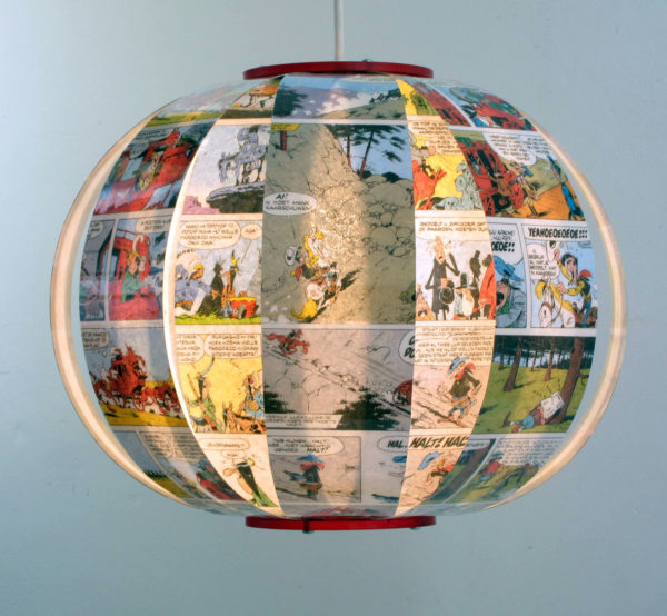 Lucky Luke - comic book lamp
