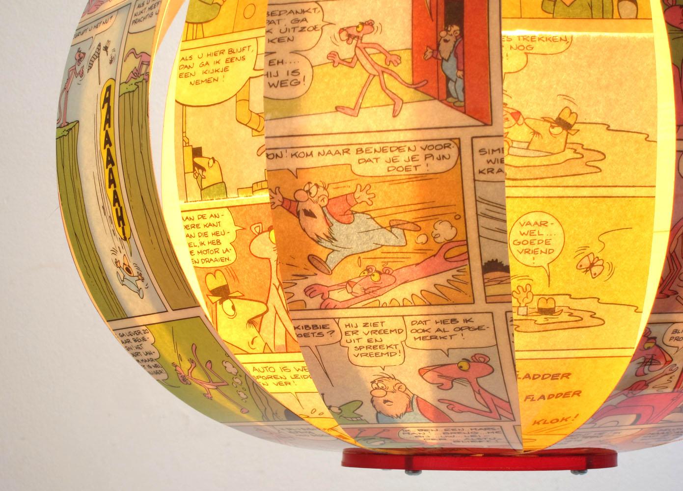 Pink Panther - comic book lamp