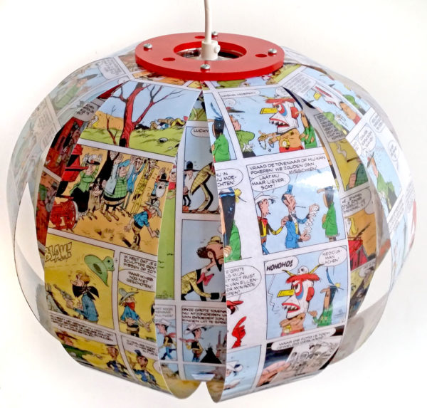 lucky luke comic book lamp bomdesign