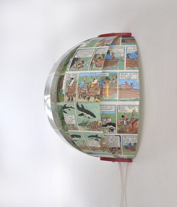 Kuifje Tintin comic book wall lamp bomdesign
