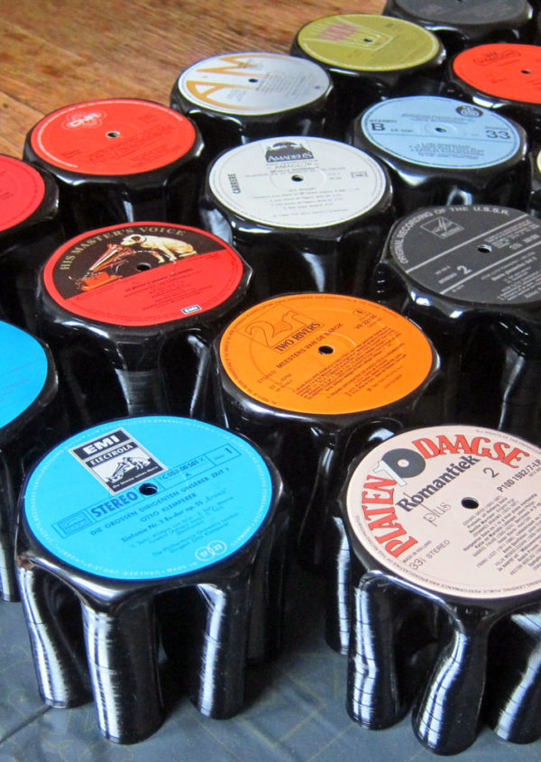 Penman upcycled vinyl record pen holder bomdesign