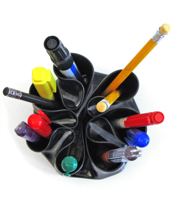 Penman upcycled vinyl record pen holder