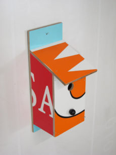 Billbirdhouse Orange, Red & Blue recycle design