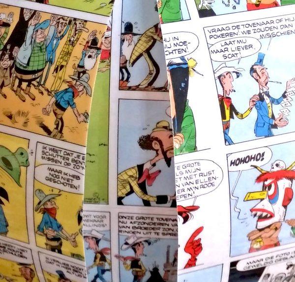 lucky luke comic book lamp bomdesign