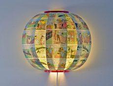 Kuifje Tintin comic book wall lamp bomdesign